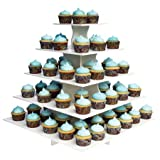 5-tier Square Dessert Stand Is Ideal for Parties, Holidays, Weddings, and Other Get-togethers