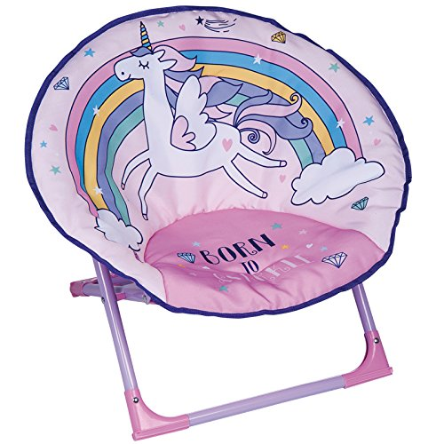 Kids Bedroom Childrens Foldable Unicorn Moon Chair Seat 50 x 50 x 47cm