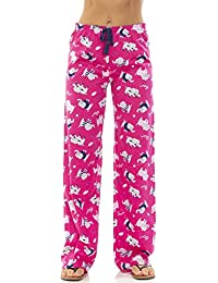 Womens Cotton Jersey Drawstring Pajama Bottoms