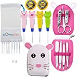 Ear Wax Removal Tool with Led Light for Kids - Toddlers, Infants, Baby and Adult by BonnyEars | Stainless Steel Cute Baby Manicure Kit | Ear Pick Spoon Curette Tweezers Cleaning Set
