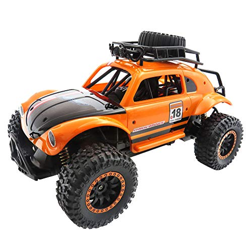 Price comparison product image Littleice High-Speed Remote Control RC Car 1:14 Full-Scale 2.4G Racing Off-Road Vehicle 25km / H Independent Suspension Off Road Crawler (Orange)