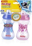 Nuby 1988295 No-Spill Clik-It Soft Spout 10 oz Cup - Pack of 2 - Case of 24