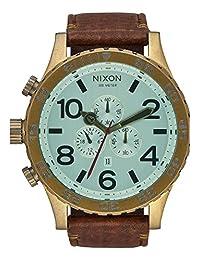 Nixon Men's A1242223-00 51-30 Chrono Leather Analog Display Japanese Quartz Brown Watch
