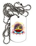 TooLoud Festive Diya and Rangoli Adult Dog Tag Chain Necklace - 1 Piece