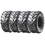 kawasaki teryx tires - Front and Rear ATV Tires 4ply 25x8-12 & 25x10-12 for Kawasaki Brute Force Prairie Teryx