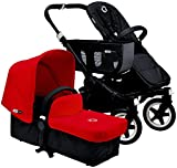 Bugaboo Donkey Complete Mono Stroller - 2015 - Red - Black Black