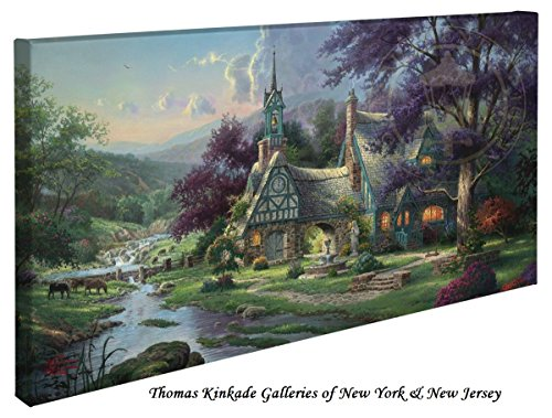 Clocktower Cottage - Thomas Kinkade canvas wall art