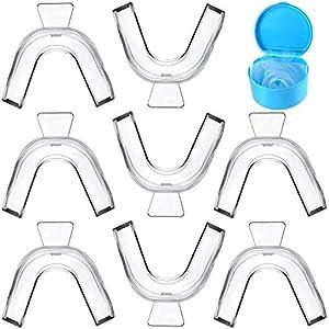 8 Pezzi Sbiancamento dei Denti Vassoi per Bocca Vassoi Denti in Termoplastica Stampo Protezioni Denti di Termoformatura…
