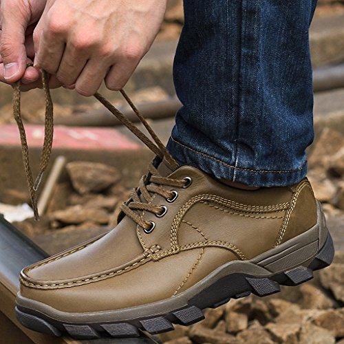 Herren Herbst Winter Casual Leder Schuhe Outdoor Tooling Stiefel 38-44 Khaki