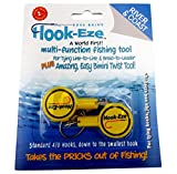 make your own fishing lures - Hook-Eze Fishing Tool (Yellow) Hook Tying & Safety Device + Line Cutter - Cover Hooks on 2 Poles & Travel Safely fully rigged. Multi function Fishing Device.