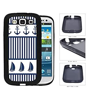 Sailboat And Boat Anchor Rubber Silicone TPU Cell Phone Case Samsung Galaxy S3 SIII I9300