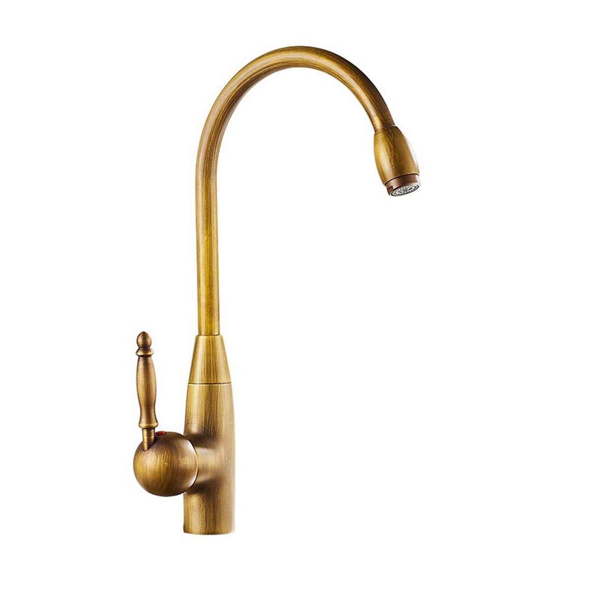 MulFaucet Copper Kitchen hot and Cold Faucet Antique Retro Faucet Sink Faucet Basin Faucet redatable