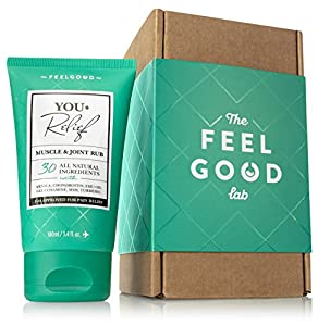 You+Relief All Natural Pain Relief Cream for Joint & Muscle Inflammation - FDA Registered - Arnica Turmeric MSM Glucosamine Chondroitin +25 more - For Lower Back Arthritis Sciatica & Exercise (3.4oz) from The Feel Good Lab