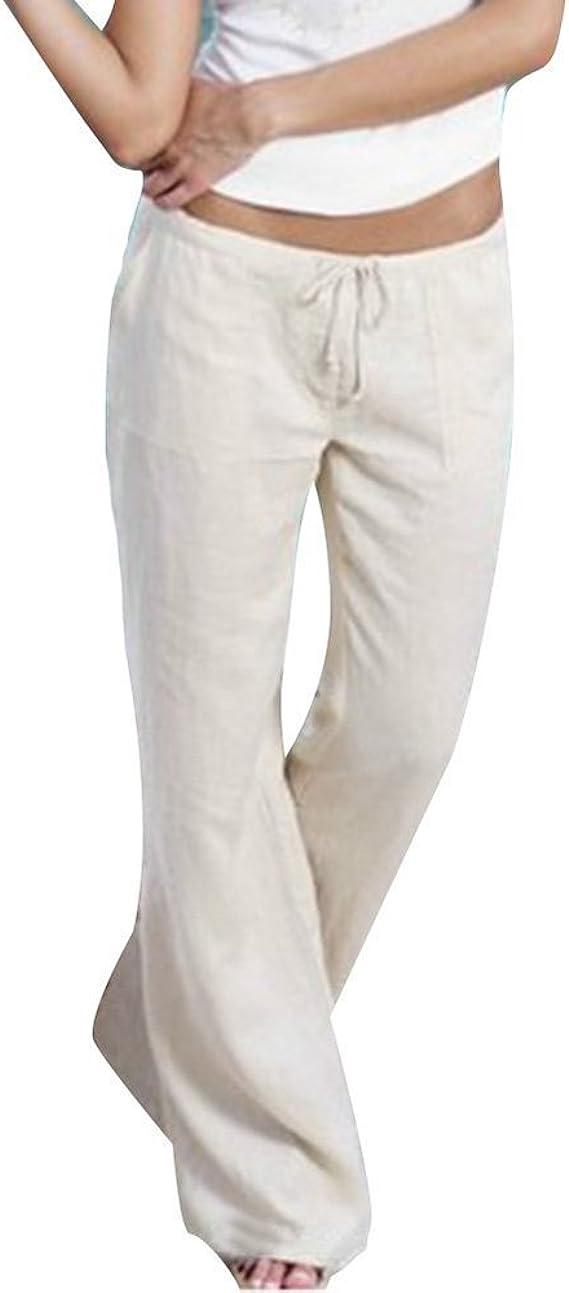 Pantalones de los Deportes de Las Mujeres Pantalones de algodón ...
