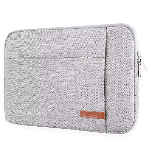 Lacdo 13.3 Inch Laptop Sleeve Case Compatible 13 Inch MacBook Pro Retina 2012-2015/ Old MacBook Air 13 / 12.9 iPad Pro, HP Acer ASUS Samsung Lenovo Chromebook Notebook Bag, Water Resistant Gray