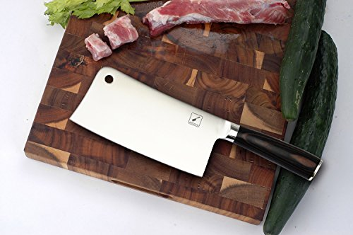 Cleaver Knife,Imarku Chef Knife,7-Inch Chinese Vegetable Kitchen Knife,Stainless-Steel Chopper-Cleaver-Butcher Knife for Home Kitchen or Restaurant by imarku (Image #4)