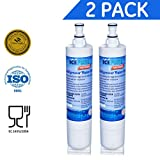 Chromium 6 Water Filter IcePure Premium Refrigerator Replacement Water Filter, compatible with Whirlpool PUR 4396508, 4396510 for Kitchenaid Maytag Whirlpool Side By Side Refrigerator (2 pack)