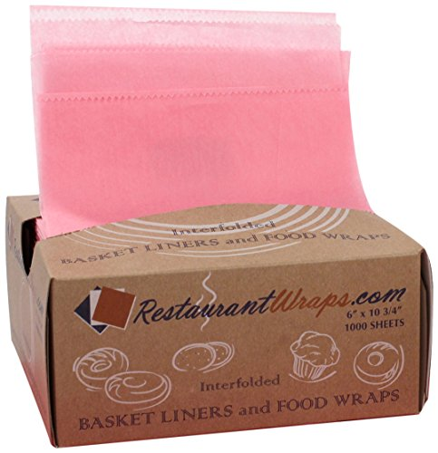 RestaurantWraps.com Interfolded Waxed Tissue, Basket Liner and Food Wrap, 6