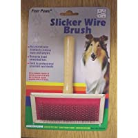 Four Paws Pet Products DFP00253 Dog Slicker Wire Brush, Medium