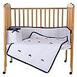 BabyDoll Forever Mine Junior Port-A-Crib Bedding Set, Navy
