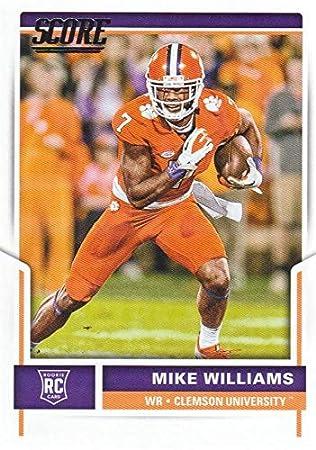 detailed look 0fd3a 68e1f Mike Williams Football Card (Clemson Tigers) 2017 Panini ...