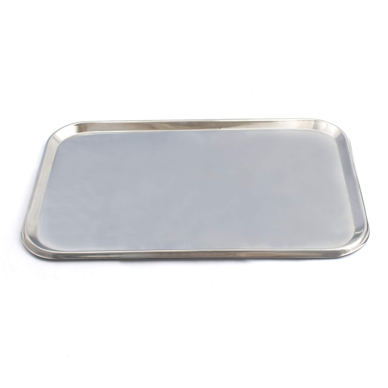 LAJA IMPORTS Flat Type Instrument Tray, Stainless Steel, 19'' X 12-1/2'' X 5/8'' by LAJA IMPORTS