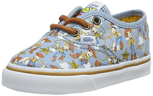Vans Toddlers Authentic (Toy Story) Woody/True Wht Skate Shoe 4 Infants US (Buzz Lightyear Shoes)