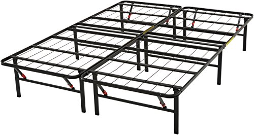 AmazonBasics Platform Bed Frame, Black, California King