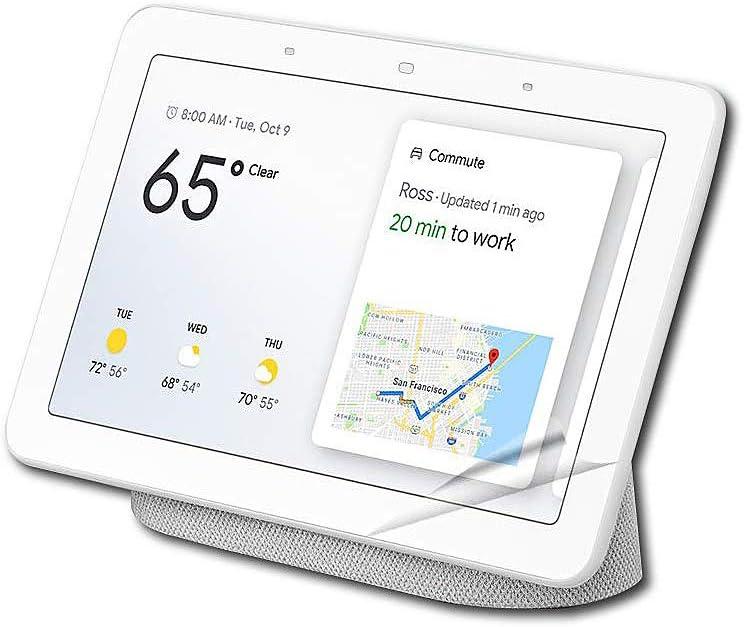 Anti Glare/Anti Fingerprint AG2 High Transmittance Easy Install Unbreakable PET Screen Protector for Google Home Hub/Nest Hub[2 Pack]