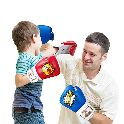 SKL Kids Boxing Gloves 4oz Training Gloves for Children Cartoon Sparring Boxing