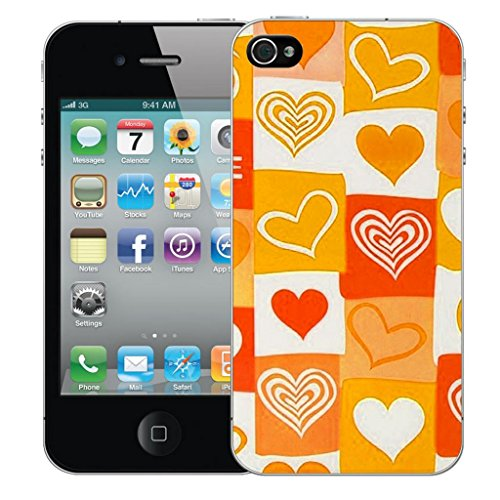 Mobile Case Mate iphone 5c clip on Dur Coque couverture case cover Pare-chocs - orange amore Motif avec Stylet