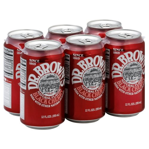 Dr. Brown Soda Black Cherry 6 pack, 12-ounces (Pack - Black Cherry Browns