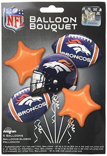 Anagram Bouquet Broncos Foil Balloons, -