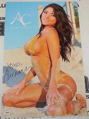 Arianny Celeste Signed UFC 15x24 Poster COA Autograph Octagon Girl MMA - PSA/DNA Certified - Autographed UFC Photos