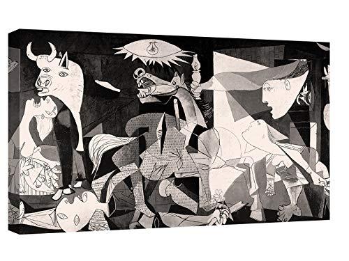 Canvashop Cuadros Modernos Salon Picasso Guernica 120 x 70 cm Cuadro Impresion sobre lienzo