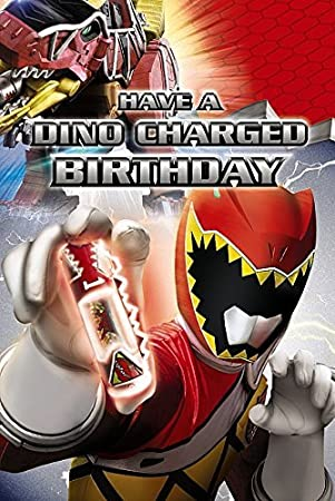 Power Rangers Greetings Card Have A Dino Charged Birthday Amazon
