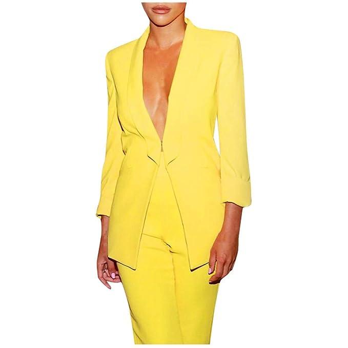 Americana Mujer Blazer Y Pantalones Dos Piezas Elegantes Set ...