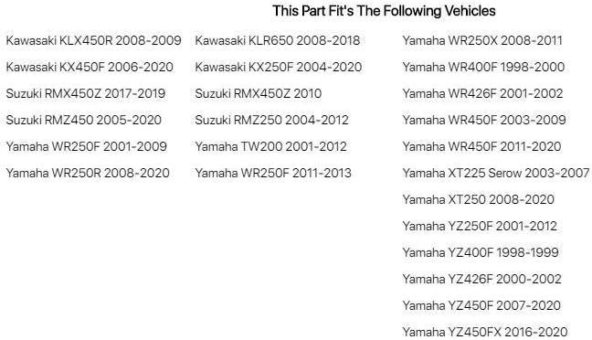 Fits Tusk Engine Kill Switch Yamaha YZ400F 1998-1999 Automotive ...