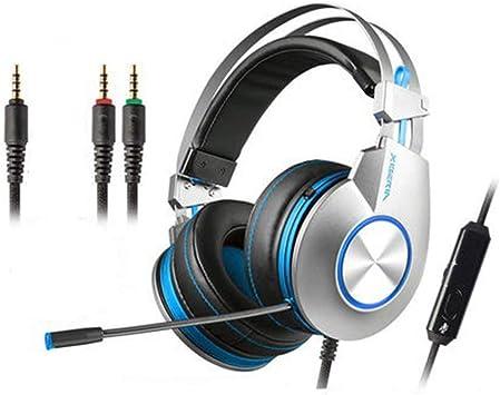 Auriculares Gaming para PS4,Cascos Gaming de Mac Estéreo con Micrófono Juego Gaming Headset con 3.5mm Jack con Control de Silencio para PC,Playstation 4,Xbox One,B: Amazon.es: Deportes y aire libre