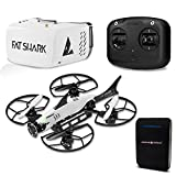Fat Shark 101 FPV Drone Training System Bundle w/ Fatshark Racing Drone, First Person View Goggles, Radio, Extra Props and Drone World Battery Bank