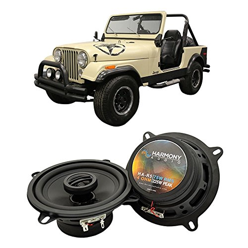 Fits Jeep CJ-7 1979-1988 Front Dash Factory Replacement Harmony Speaker HA-R5 - 1985 Jeep 1987