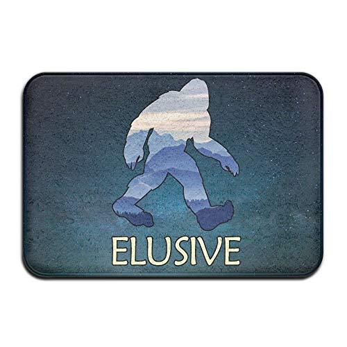 GTdgstdscSoft Non-Slip Funny Bigfoot Sasquatch Bath Mat Coral Fleece Area Rug Door Mat Entrance Rug Floor Mats