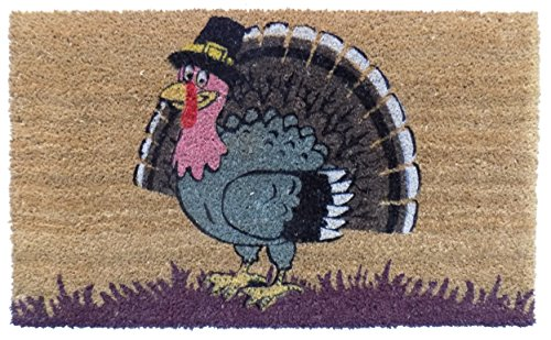 Imports Decor Turkey Vinyl Backed Coir Doormat, 30 by 18 by 1/2'' by Imports Décor