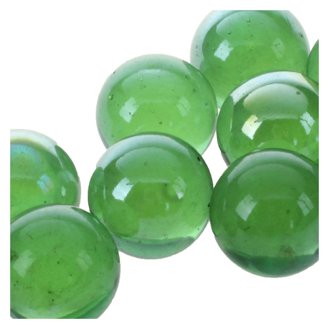 Tcplyn Premium Quality Glass Marbles - 10 Pcs Marbles 16mm Glass Marbles Knicker Glass Balls Decoration Color Nuggets Toy Green by Tcplyn (Image #2)