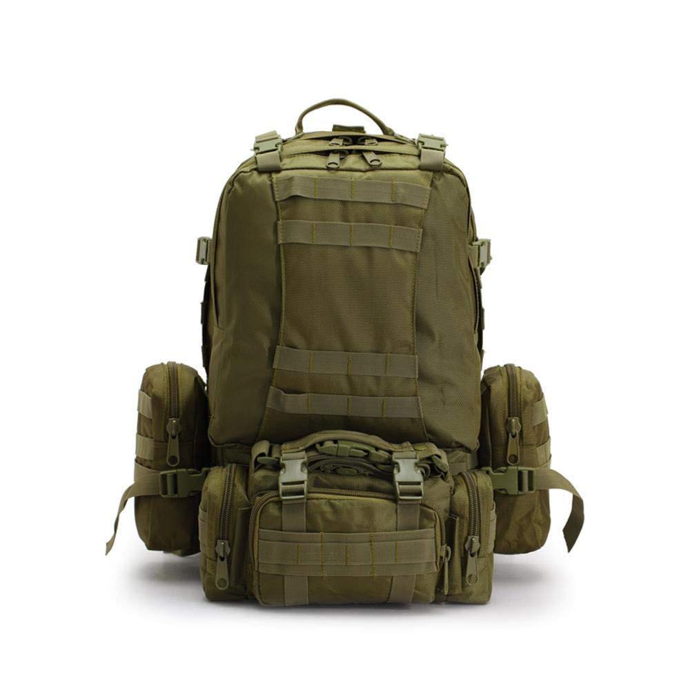 NuoEn Sports Backpack Oxford Outdoor Backpack Army Camouflage Hiking Tactics Pack Mountaineering Big Combo Backpack Size: 55cm45cm15cm