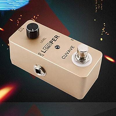 Sguan-wu 5 minutos Grabación de tono no comprimido Pedal de efecto de guitarra eléctrica Looper para música - Dorado