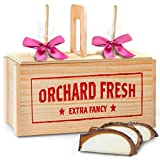 Golden State Fruit Spring Milk & White Chocolate Covered Caramel Apples Gift Crate
