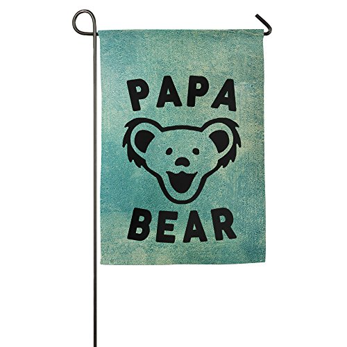 Celebrated Papa Bear Best Dad Ever Mascot Happy Garden Flag House Flag Outdoor Flags