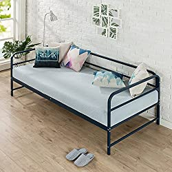 Zinus Nightfall Twin Daybed Frame, Steel Slat Support