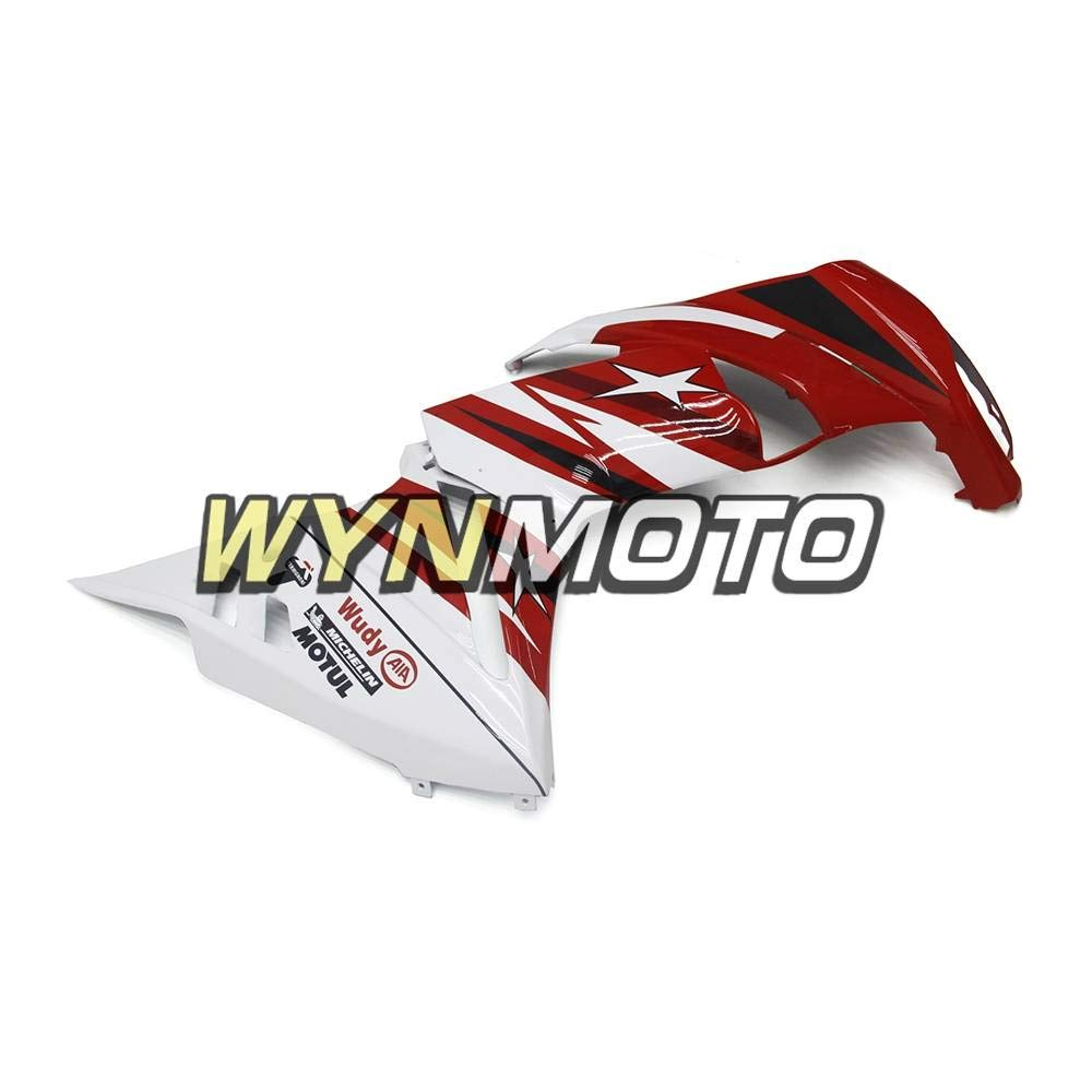 WYNMOTO ABS Plastic White Red Star Motorcycle Fairing Kit For Kawasaki Ninja 650r ER-6F 2009 2010 2011 09 10 11 Sportbike Coat